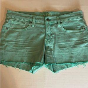 Lucky Brand mint green cut off shorts size 4